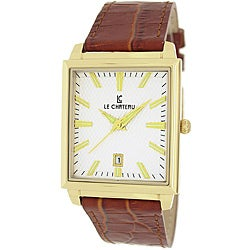 Le Chateau Classica Collection Men's Texture White Dial Watch