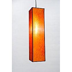 Silk Rectangular Citrus Hanging Lamp (Vietnam)