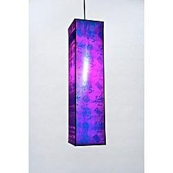 Silk Medium Rectangular Jewel Hanging Lamp (Vietnam)