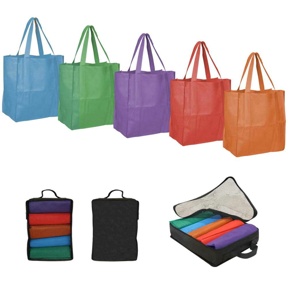 Traveler's Club Reuseable Totes with Packing Cube (Pack of 12)
