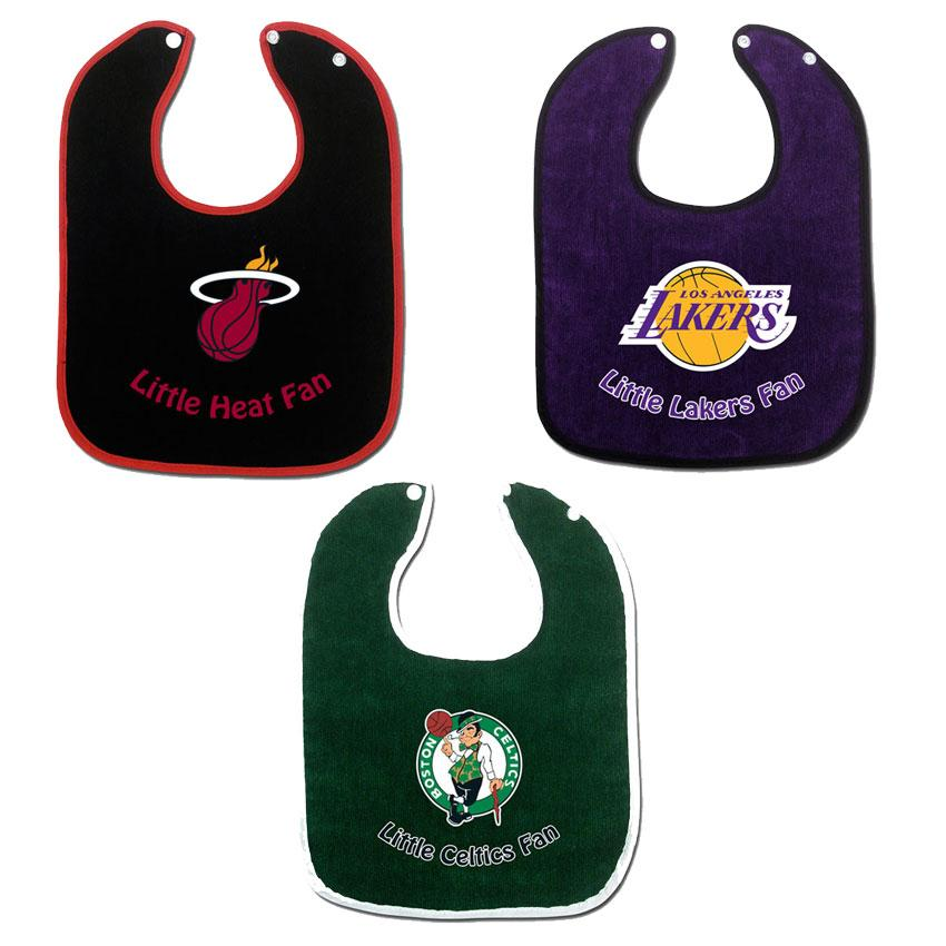 Full Color NBA Team Body Snap Bibs (Set of 2)