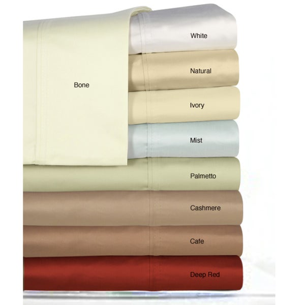 Egyptian Cotton Sateen 300 Thread Count Pillowcases (Set of 2)