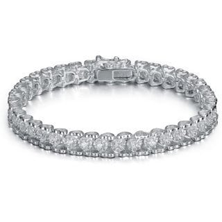 Collette Z Sterling Silver Cubic Zirconia Box Tennis Bracelet