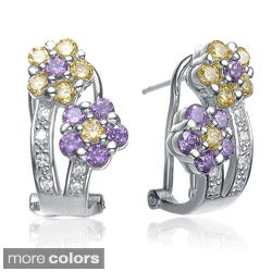 Collette Z Sterling-Silver Cubic Zirconia Flower Stud Earrings