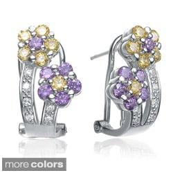 Collette Z Sterling-Silver Cubic Zirconia Flower Stud Earrings