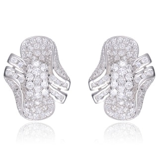 Collette Z Sterling Silver Cubic Zirconia Stud Earrings