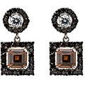 Collette Z Sterling Silver Mulitcolor Cubic Zirconia Dangle Earrings