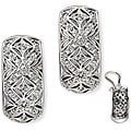 Collette Z Sterling Silver Cubic Zirconia Geometric Cutout Earrings