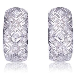 Collette Z Sterling Silver Cubic Zirconia Geometric Cutout Earrings