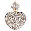 Collette Z Sterling Silver Two-tone Cubic Zirconia Heart Necklace