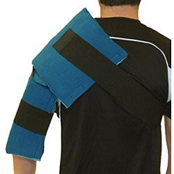 Cool Relief Flexible Gel Shoulder Ice Wrap with Removable Ice Inserts