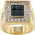 Kate Bissett Brass Men's Cubic Zirconia Fashion Ring