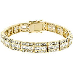 Kate Bissett Goldtone Brass Clear Cubic Zirconia Tennis Bracelet