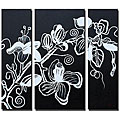 'Inkblot Hand Painted Canvas' 3-piece Art Set