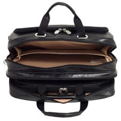 McKlein Rockford Leather Checkpoint-friendly 17-inch Laptop Case