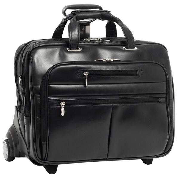 McKlein Ohare Leather Checkpoint-friendly 17-inch Rolling Laptop Case