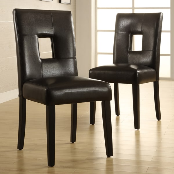TRIBECCA HOME Mendoza Brown Keyhole Back Dining Chair