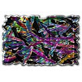 Ash Carl 'Kaleidoscopic Figures' Metal Wall Art