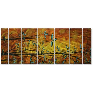 Megan Duncanson 'Two Birds' Metal Wall Art