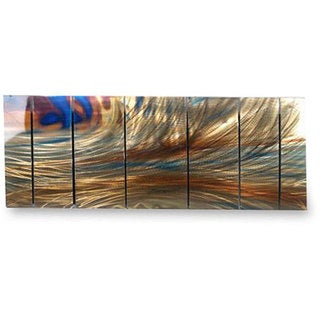 Ash Carl 'Igneous' 7-panel Metal Wall Art