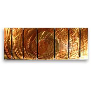 Ash Carl 'Initiation' 7-panel Metal Wall Art