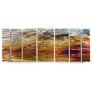 Ash Carl 'Warm Breeze' 7-piece Metal Wall Art Set