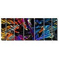 Ash Carl 'Colorful Crystals' 7-piece Metal Wall Art Set