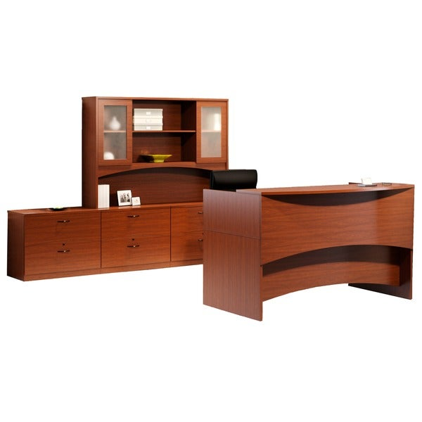 Mayline Brighton Six-Drawer Reception Desk