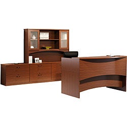 Mayline Brighton Six-Drawer Reception Desk