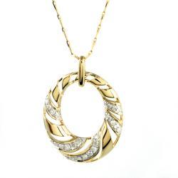 Beverly Hills Charm 14k Yellow Gold 1/2ct TDW Diamond Oval Necklace (H-I, I1-I2)