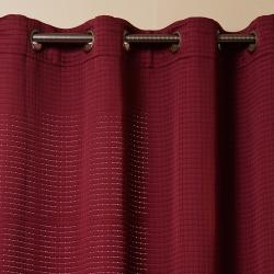 Square Quilted Grommet Top 95-inch Curtain Pair