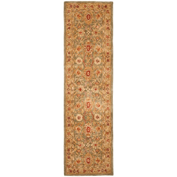 Safavieh Handmade Mahal Sage/ Ivory Wool Runner (2'3 x 12')