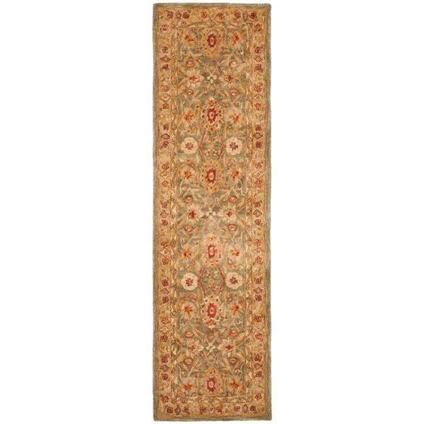 Safavieh Handmade Mahal Sage/ Ivory Wool Runner (2'3 x 8')