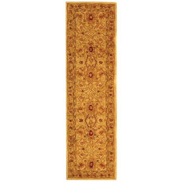 Safavieh Handmade Anatolia Grey Beige/ Sage Wool Rug (2'3 x 12')
