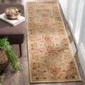 Handmade Mahal Ivory Wool Runner (2&#39;3 x 12&#39;)