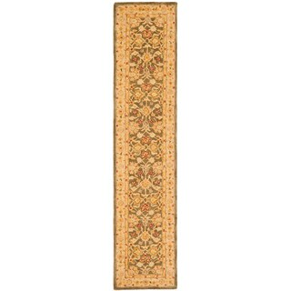 Safavieh Handmade Farahan Gold/ Green Wool Runner (2'3 x 10')