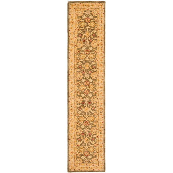 Safavieh Handmade Farahan Grey/ Ivory Wool Runner (2'3 x 12')