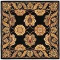 Safavieh Handmade Heritage Mahal Black Wool Rug (6' Square)
