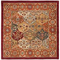Handmade Heritage Bakhtiari Multi/Red Wool Area Rug (8' Square)