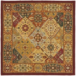 Safavieh Handmade Diamond Bakhtiari Multi/ Red Wool Rug (6' Square)