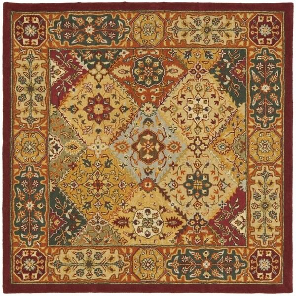 Safavieh Handmade Diamond Bakhtiari Multi/ Red Wool Rug (8' Square)