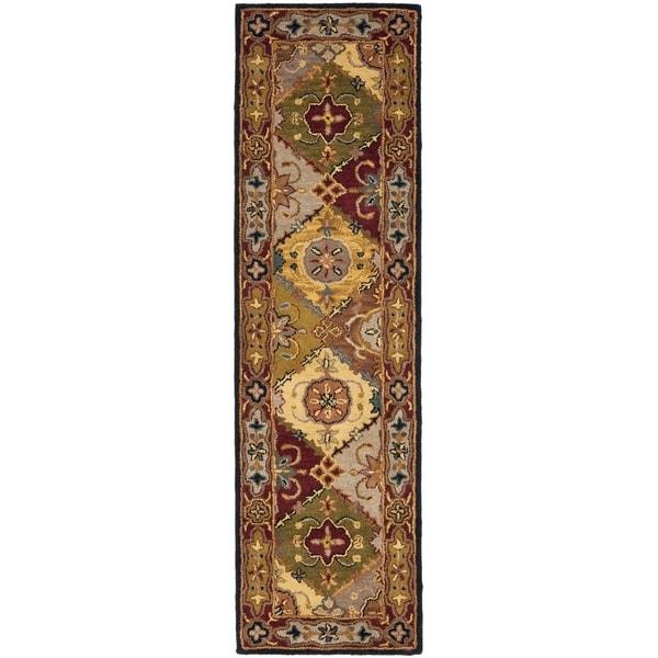 Safavieh Handmade Heritage Bakhtiari Multi/ Red Wool Runner (2'3 x 14')