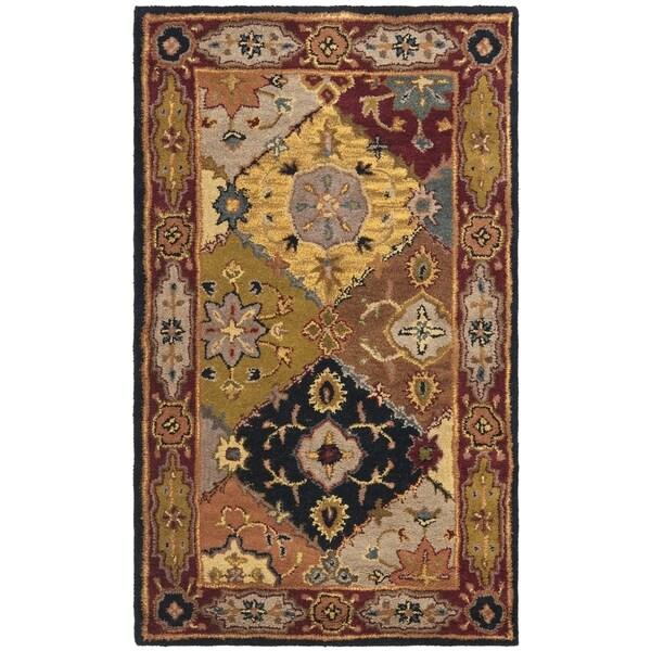 Safavieh Handmade Heritage Bakhtiari Multi/ Red Wool Rug (3' x 5')