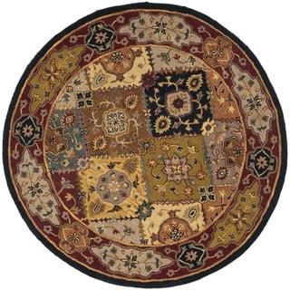 Safavieh Handmade Heritage Bakhtiari Multi/ Red Wool Rug (6' Round)