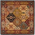 Heritage Bakhtiari Multicolored/ Red Handmade Wool Area Rug (6' Square)