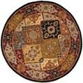 Safavieh Handmade Heritage Bakhtiari Multi/ Red Wool Rug (8' Round)