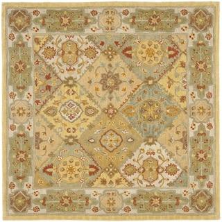 Handmade Heritage Bakhtiari Multi/ Ivory Wool Rug (6' Square)