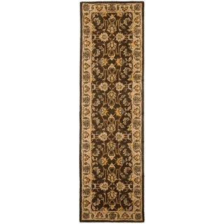Handmade Heritage Treasure Brown/ Ivory Wool Runner (2'3 x 12')