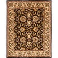 Handmade Heritage Treasure Brown/ Ivory Wool Rug (6' x 9')