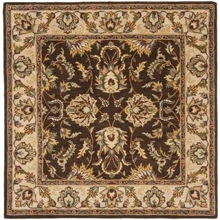 Safavieh Handmade Heritage Treasure Brown/ Ivory Wool Rug (8' Square)